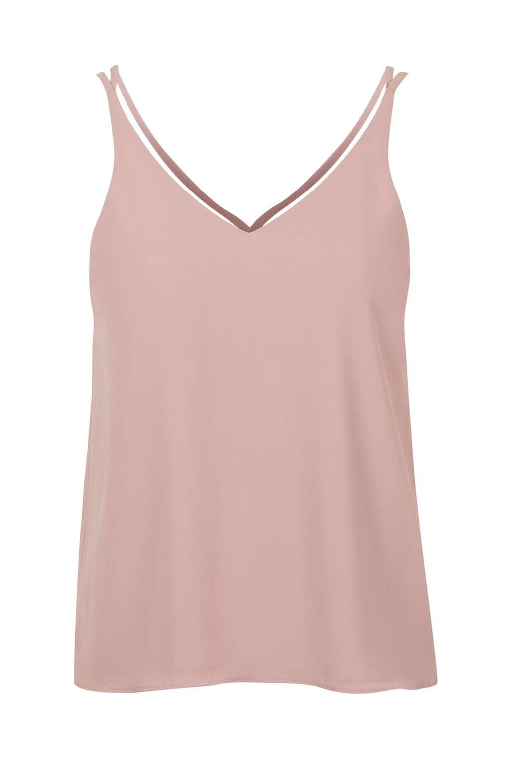 2d6d6db8e7aa TOPSHOP Double Strap V-front Cami in Pink - Lyst