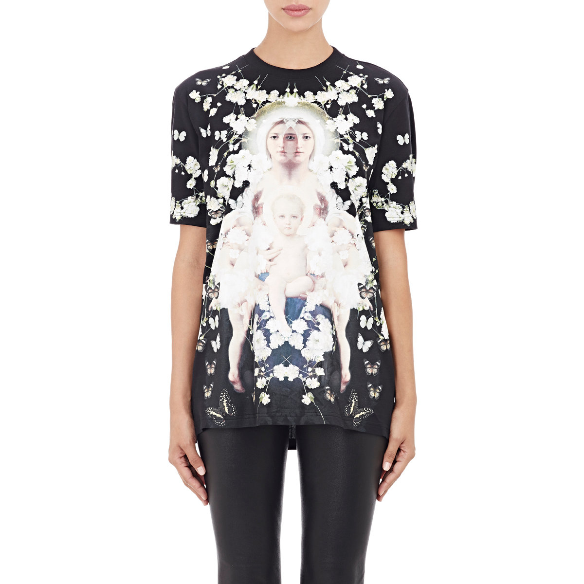 givenchy baby 39 s breath madonna t shirt in black lyst. Black Bedroom Furniture Sets. Home Design Ideas