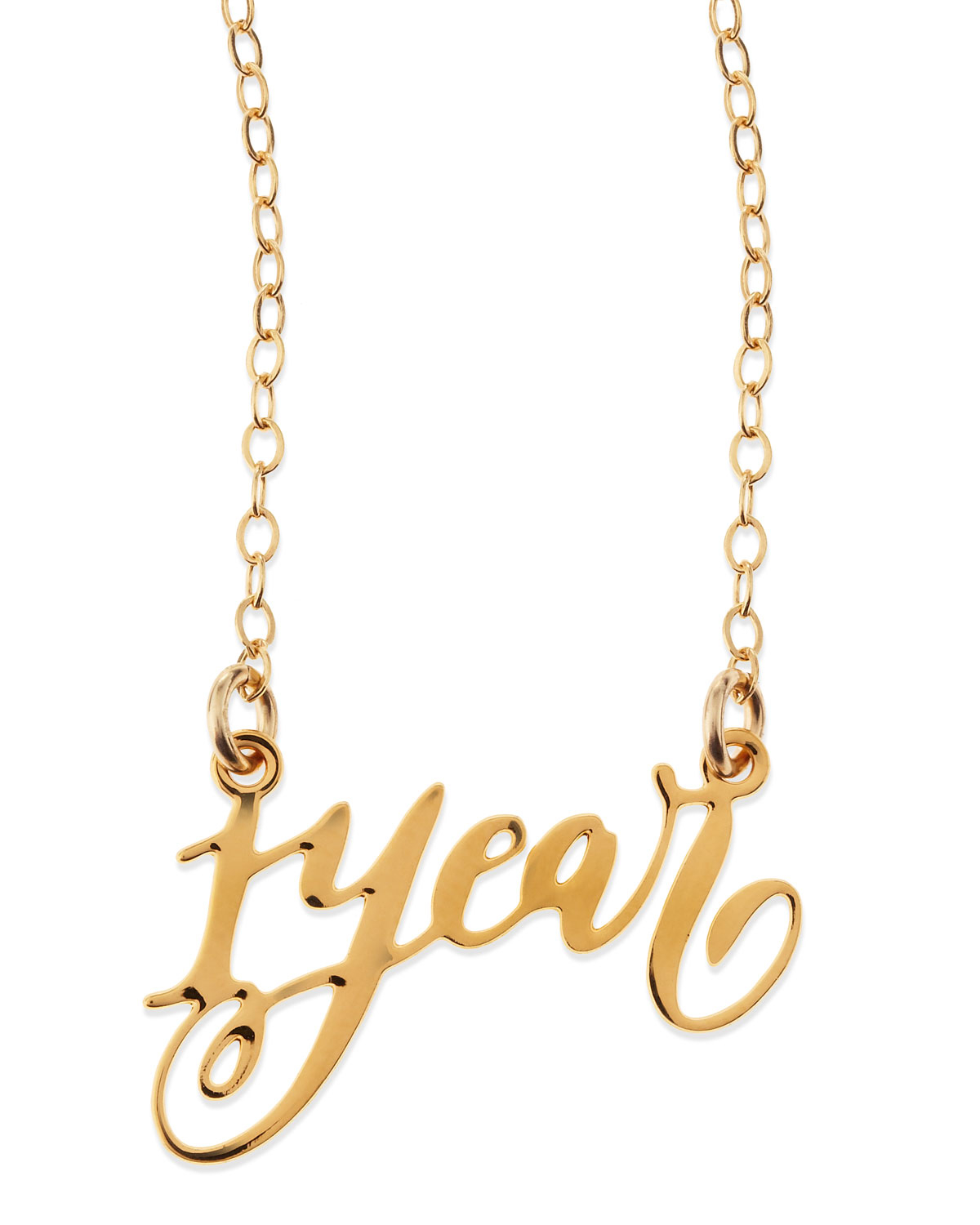 Brevity 1 year anniversary calligraphy necklace in Calligraphy jewelry