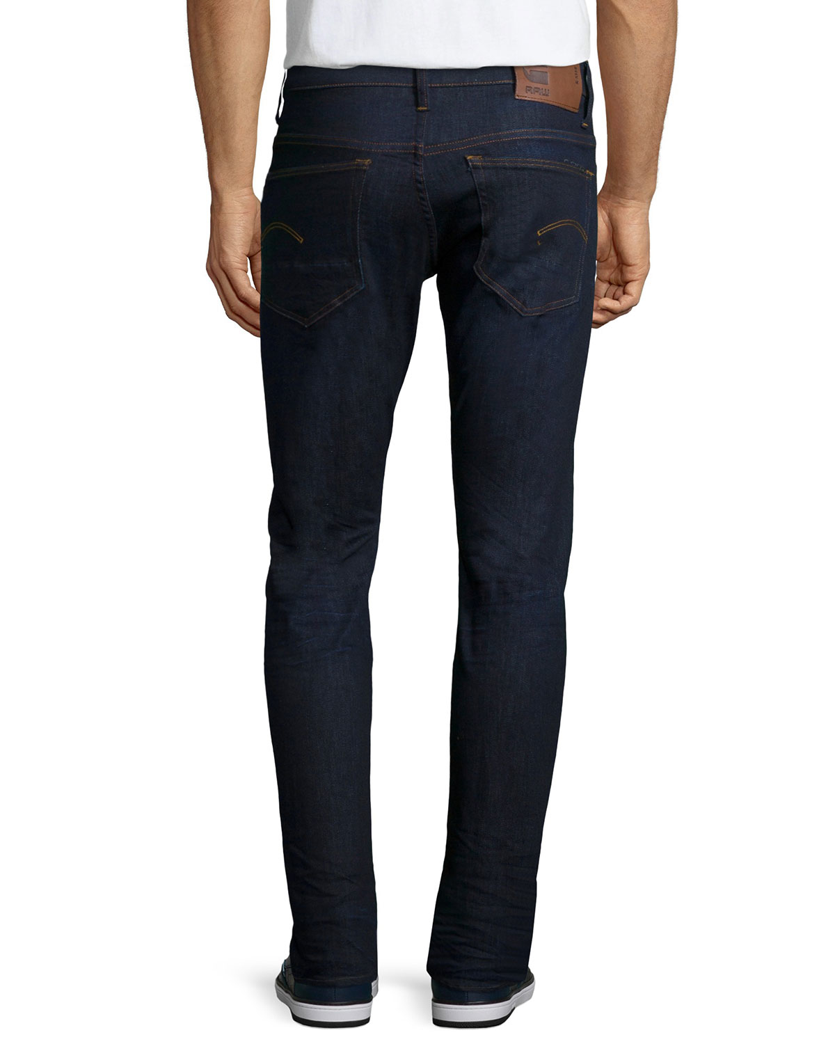 g star raw 3301 tapered visor stretch jeans in blue for. Black Bedroom Furniture Sets. Home Design Ideas