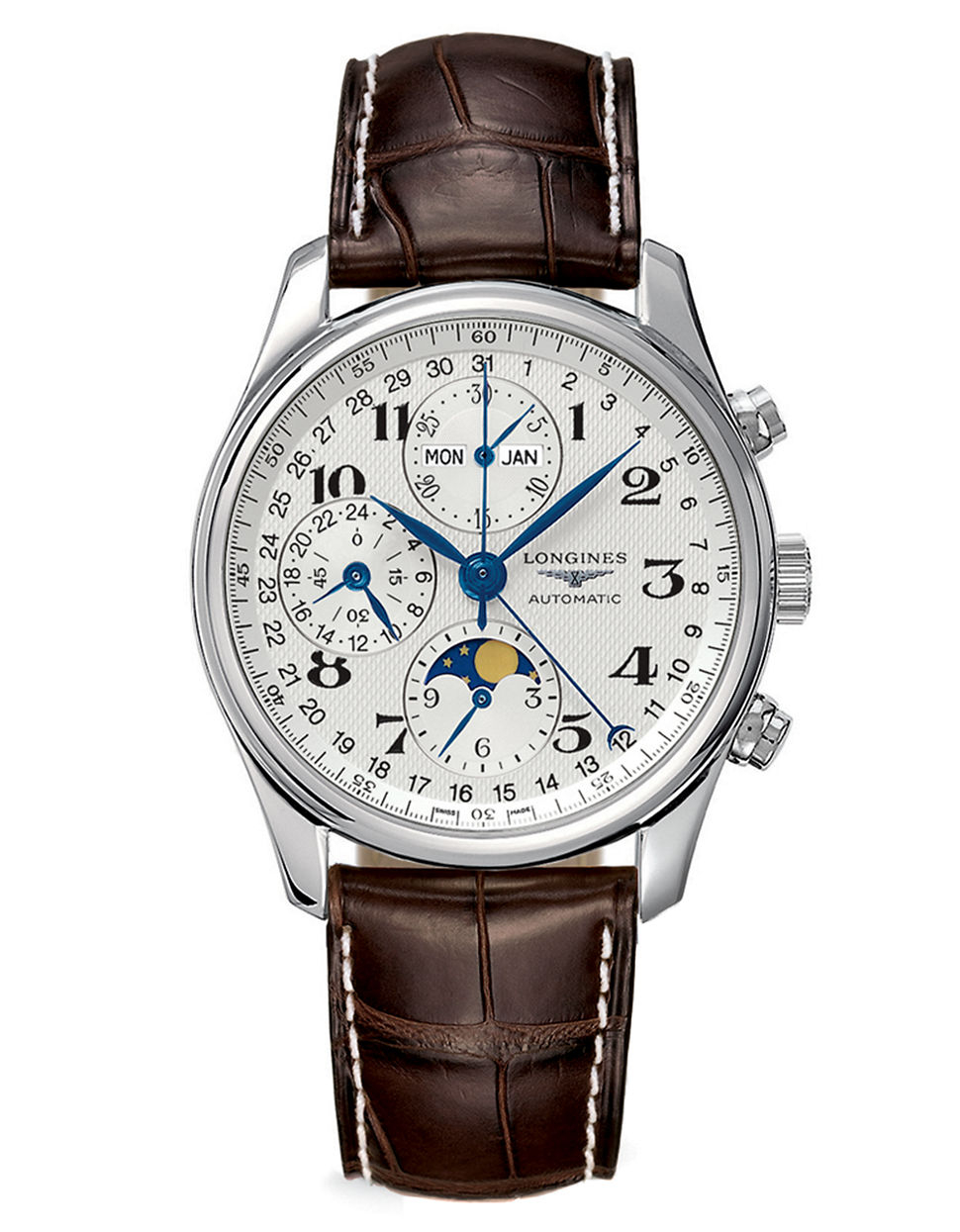 longines mens master collection automatic moon phase