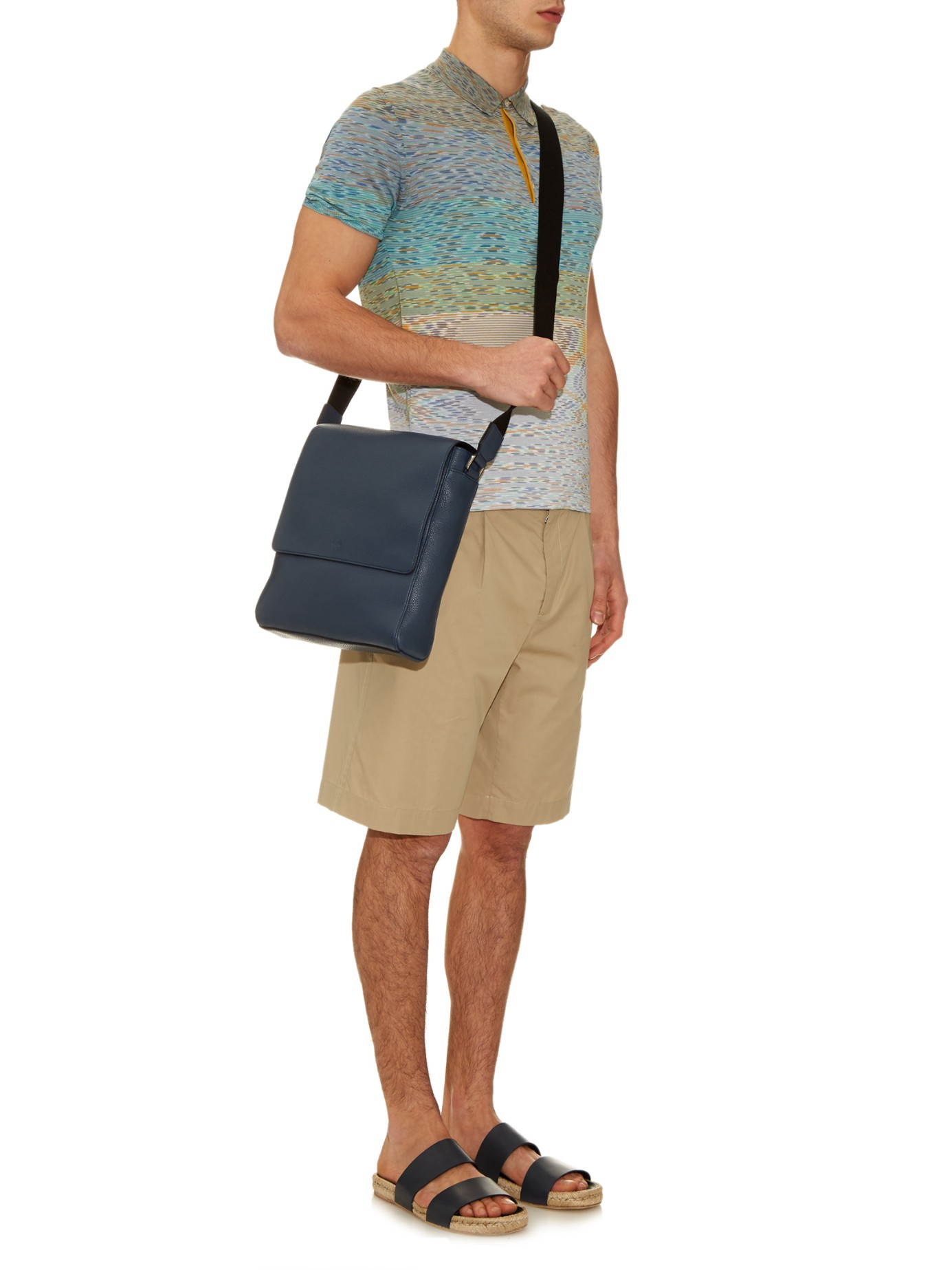d859b33d291 ... inexpensive lyst mulberry maxwell grained leather messenger bag in blue  for men 4eec7 e757a