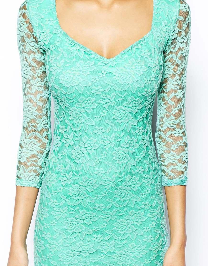 sweetheart lace mini dress