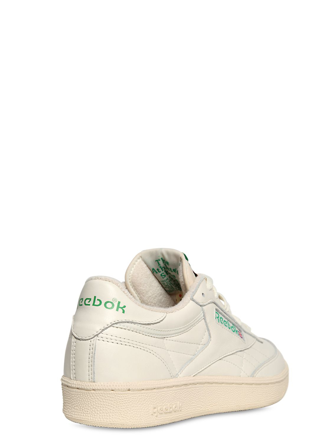 c88bfb2b631a91 Lyst - Reebok Club C 85 Vintage Leather Low-Top Sneakers in White for Men