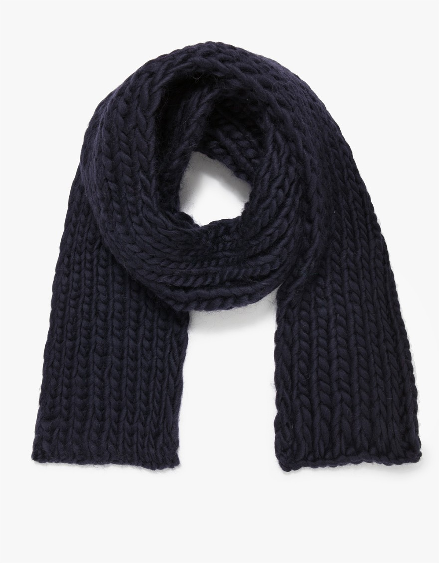 Lyst wool and the gang whistler scarf in blue - Gang and the wool ...