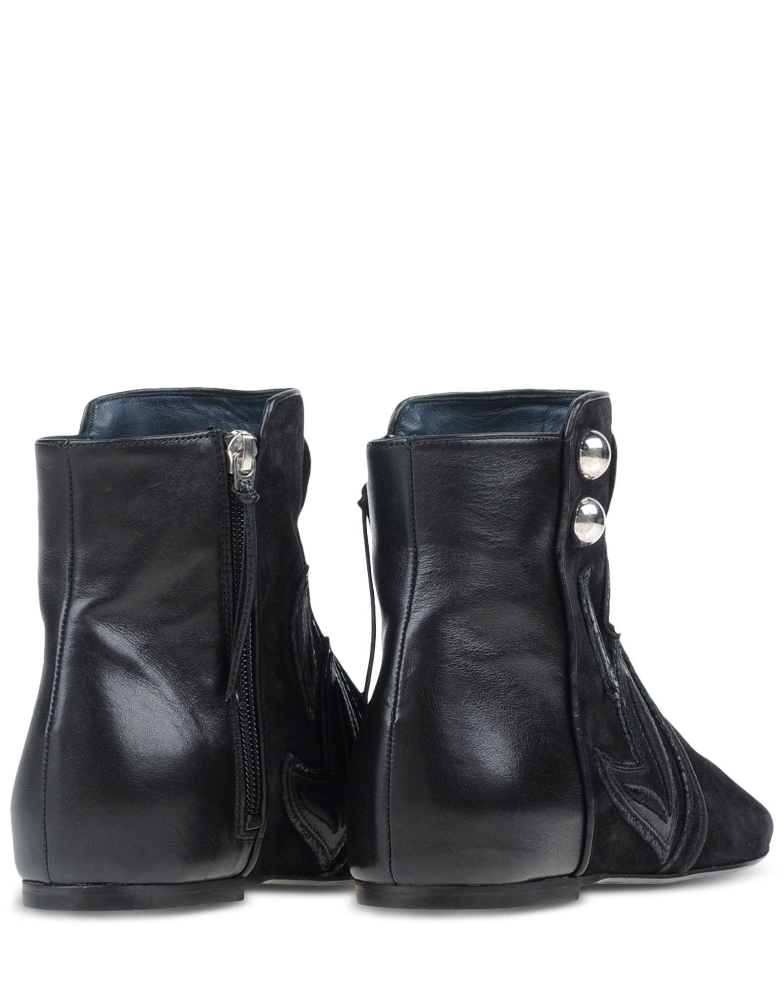 marant patterned suede ankle boots in black lyst