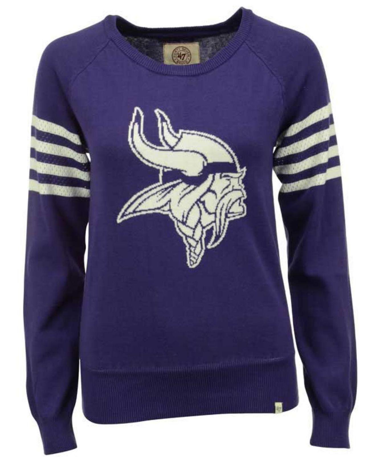 d34248fc 47 Brand Women's Minnesota Vikings Drop Needle Sweater in Purple - Lyst