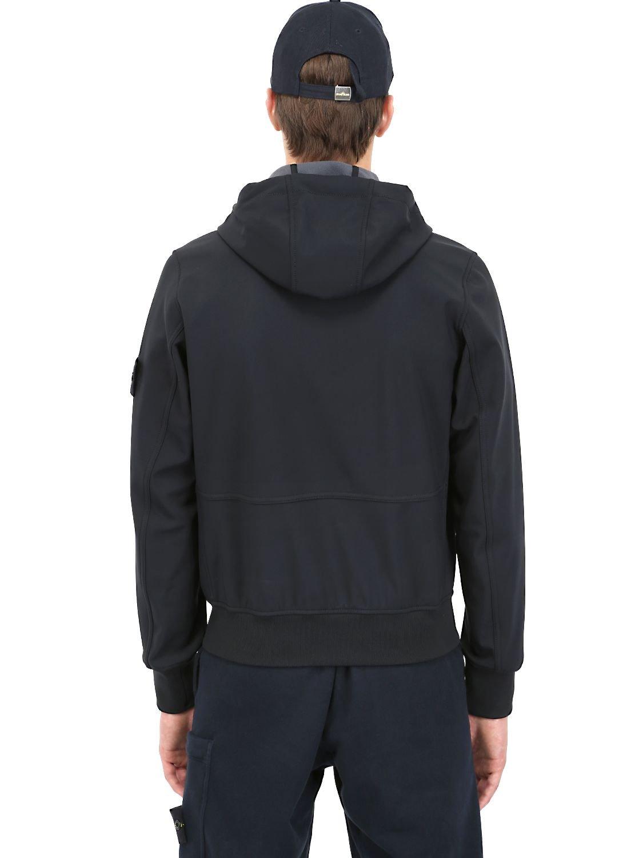 Stone Elevation Zip : Stone island soft shellr jacket in black for men lyst