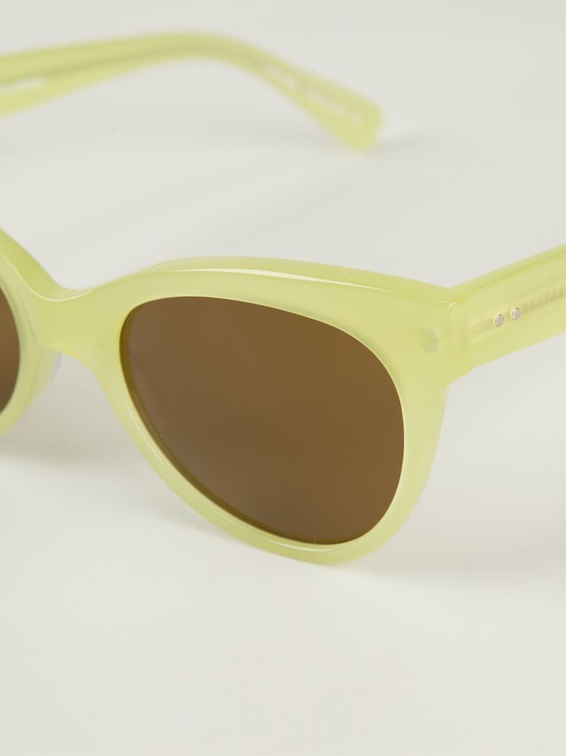 a1002455d28b Norma Kamali Square Cat Eye Sunglasses in Green - Lyst