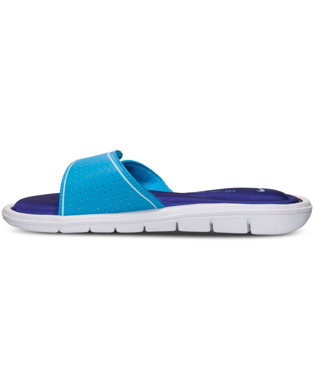 12096c49eb2733 Lyst - Nike Women s Comfort Slide Sandals From Finish Line in Blue