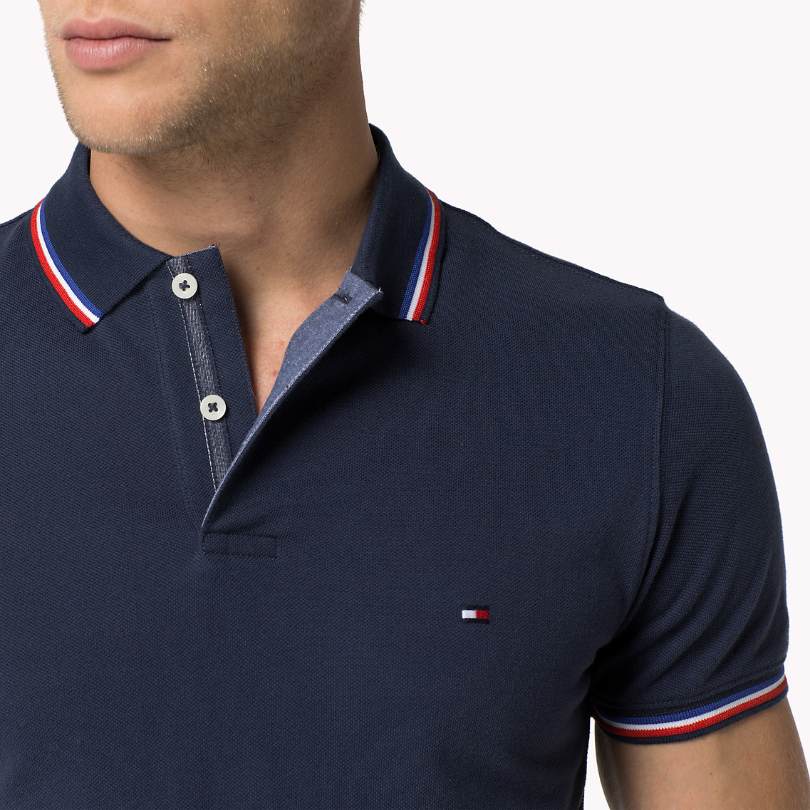 48fb5c8dee5 Tommy Hilfiger Cotton Slim Fit Polo in Blue for Men - Lyst