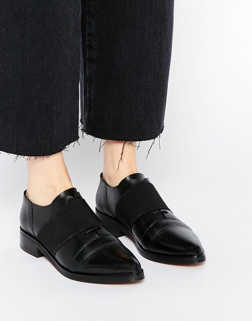 Choisi Sandale Plate Chunky Cuir Femme - Noir inYcZKv