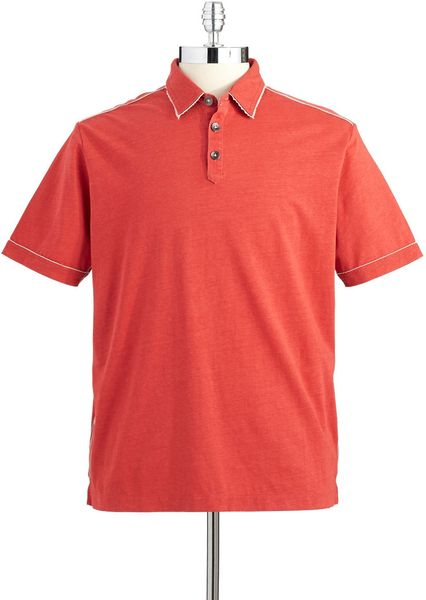 Tommy bahama modern fit polo shirt in red for men lyst for Tommy bahama polo shirts on sale