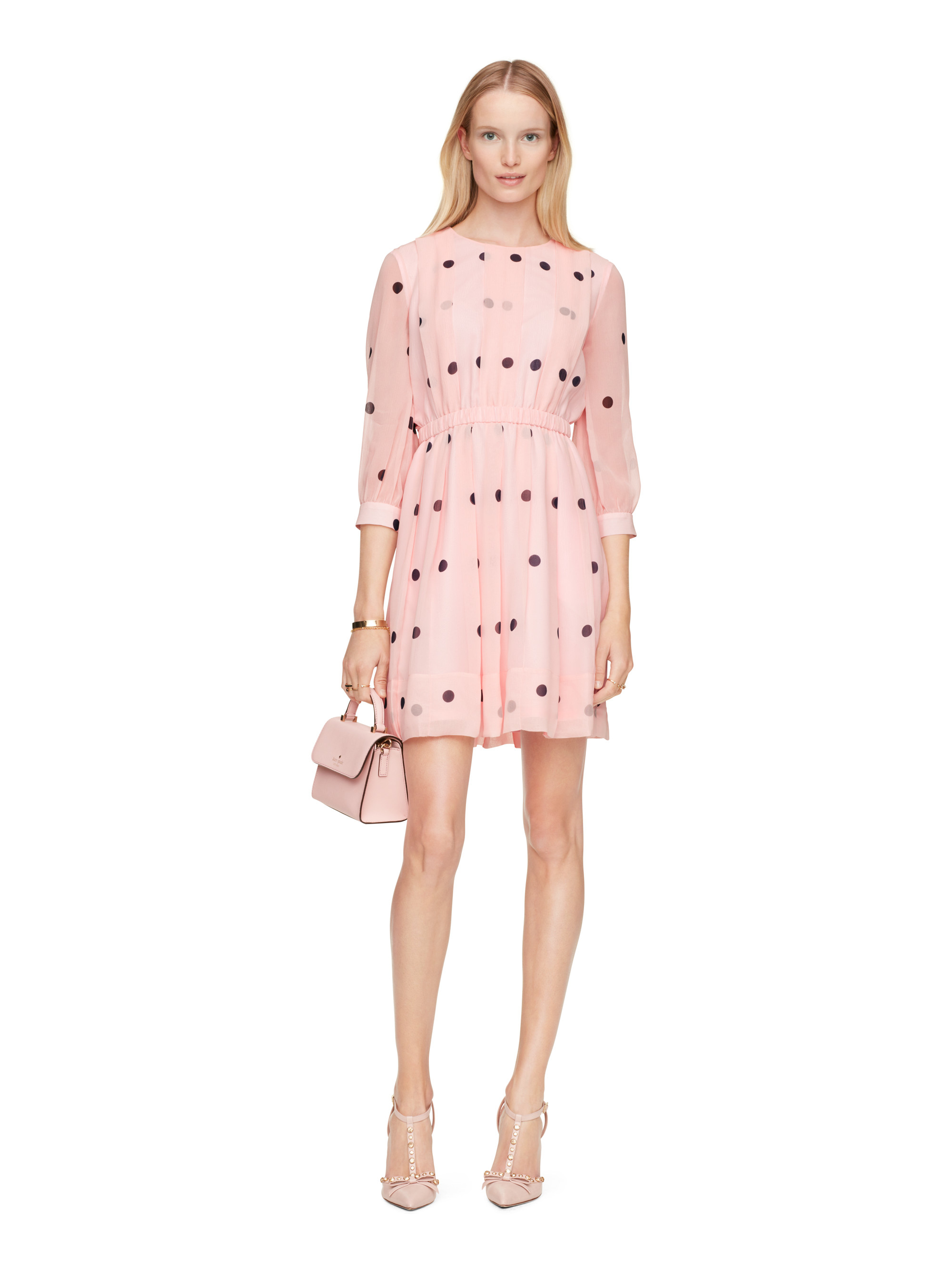Lyst Kate Spade New York Tiny Spotlight Pleated Dress In