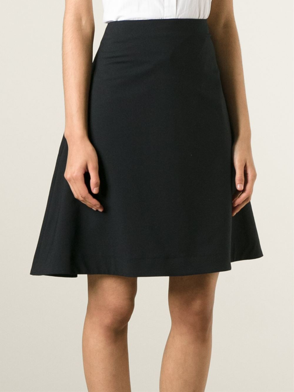acne a line skirt in black lyst