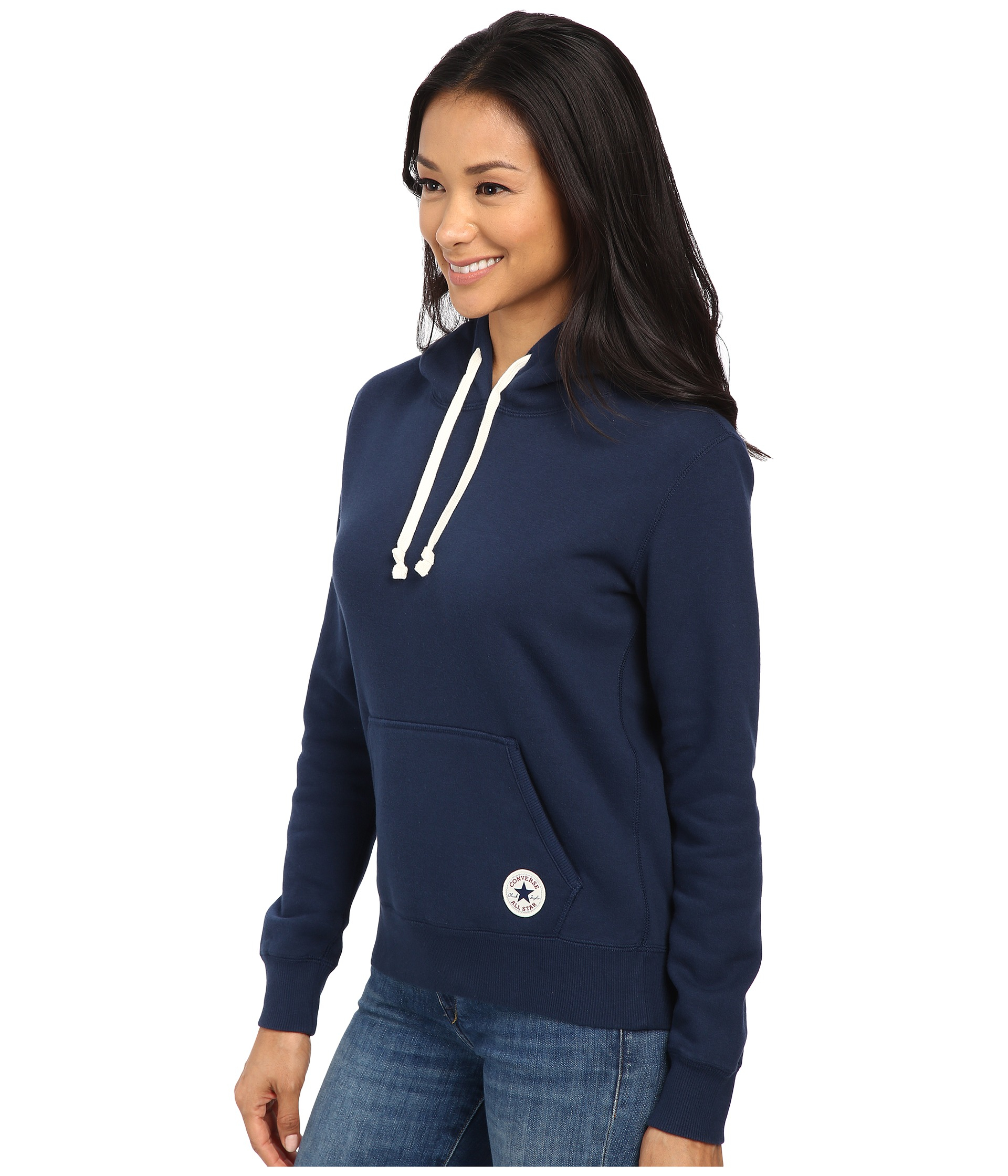 Lyst - Converse Core Popover Hoodie in Blue 083849b2f