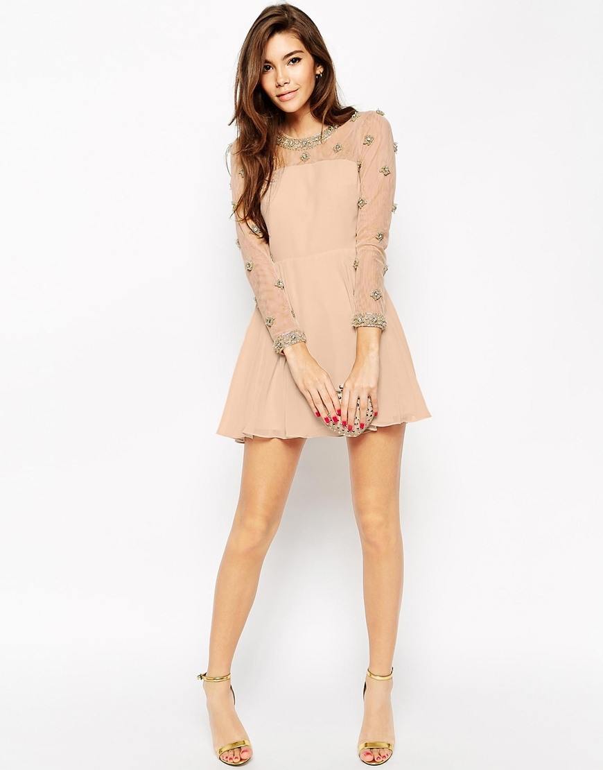 Asos Exclusive Princess Cluster Mini Dress in Pink | Lyst