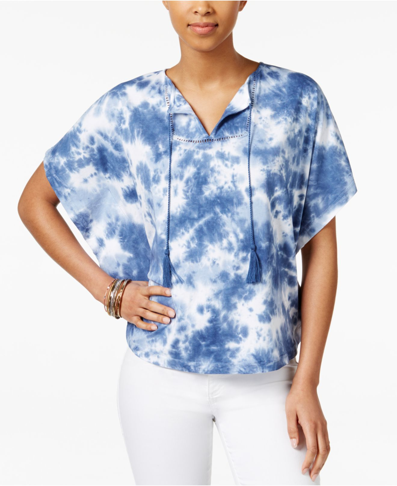 American Living Tie Dyed Poncho Top Only At Macy 39 S In