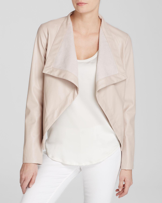 Lyst Bb Dakota Jacket Lillian Faux Leather Drape In Pink