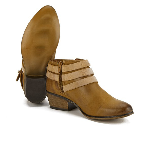 Steve madden Women's Regennt Multi Strap Leather Ankle Boots in ...