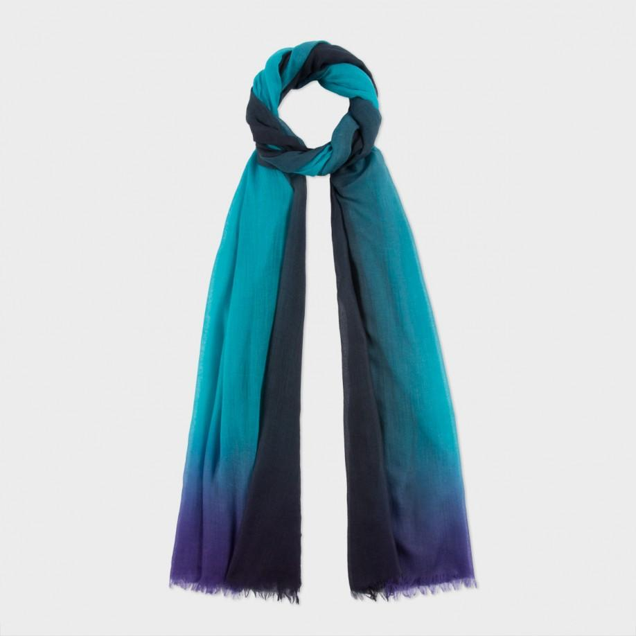 paul smith s teal silk d 233 grad 233 scarf in