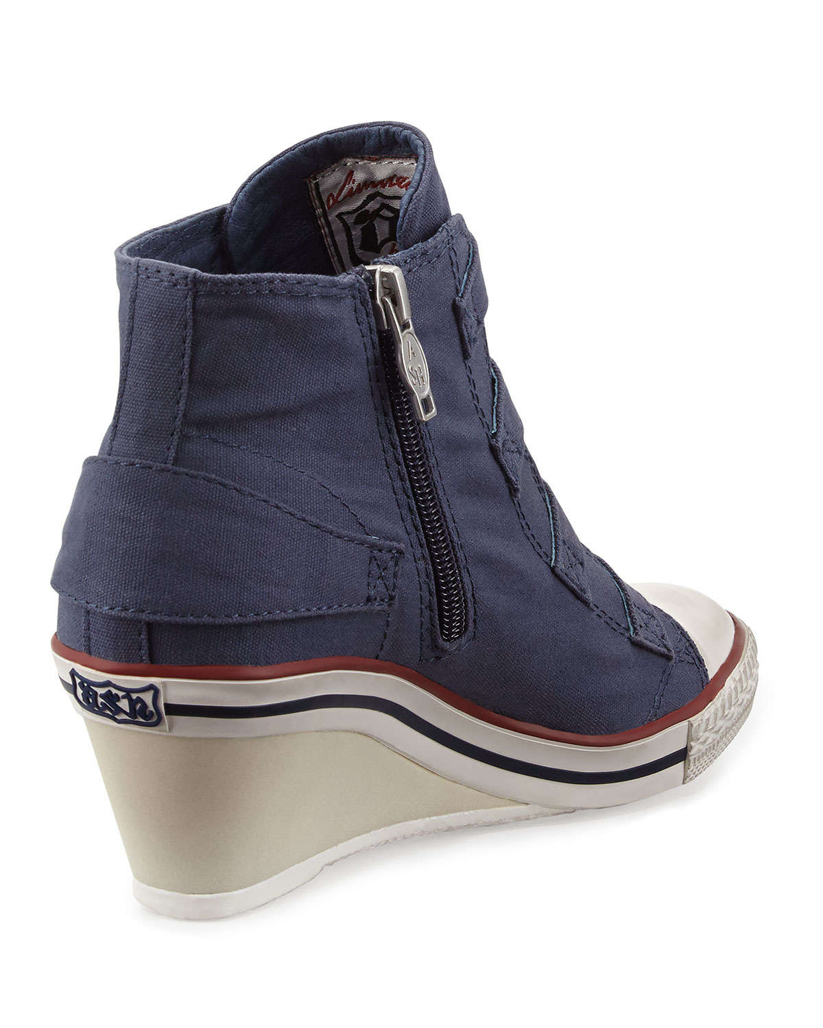 8f6e867dab97 Lyst - Ash Genialbis Buckled Wedge Sneakers in Blue