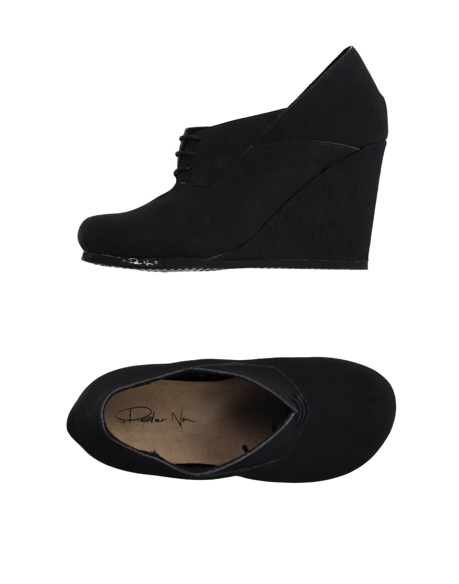 non lace up shoes in black lyst