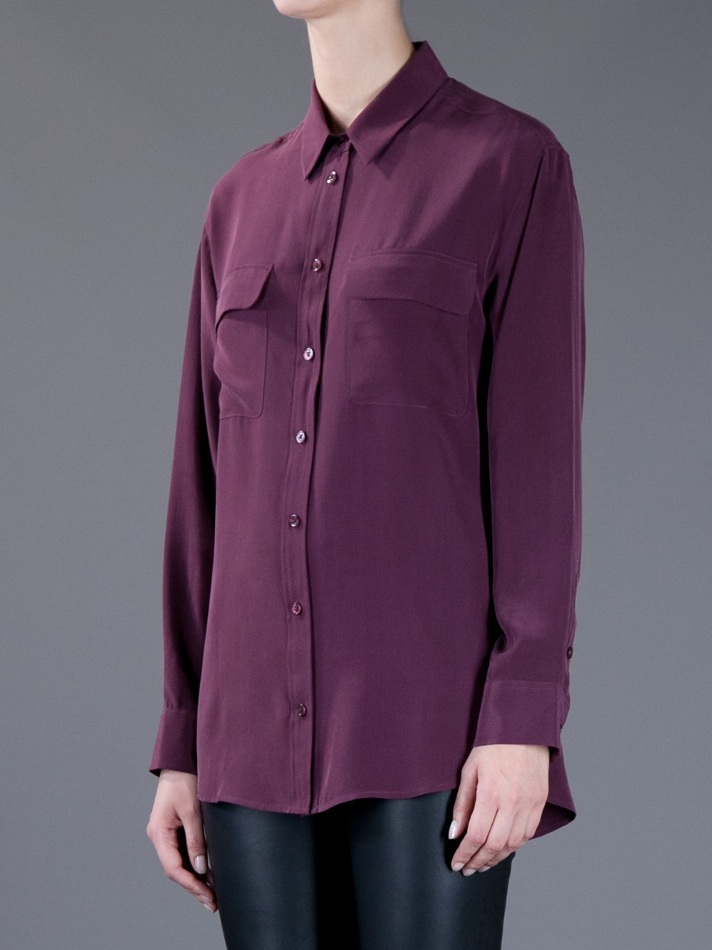 Purple Silk Blouse 61