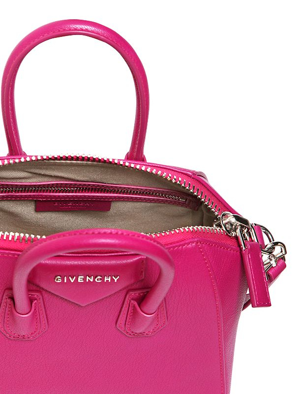 Lyst Givenchy Mini Antigona Grained Leather Bag In Pink