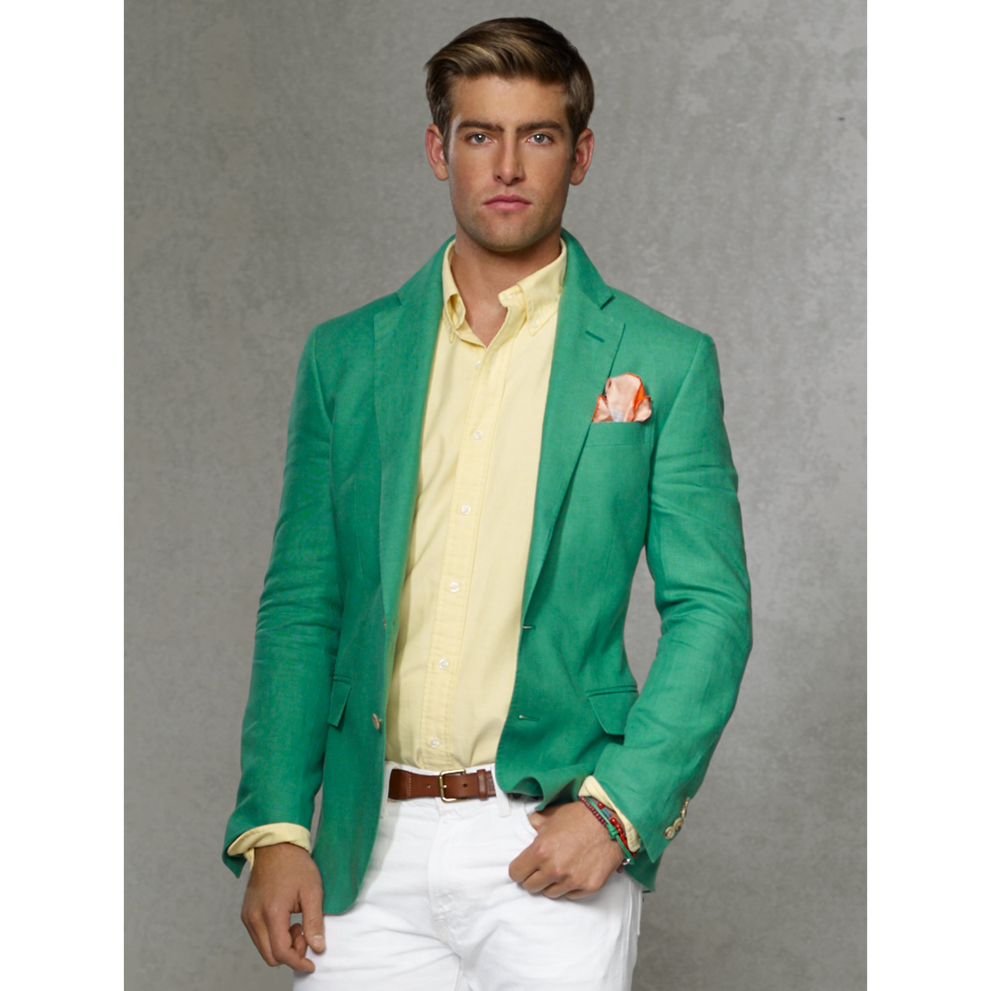Polo ralph lauren Solid Linen Sport Coat in Green for Men | Lyst