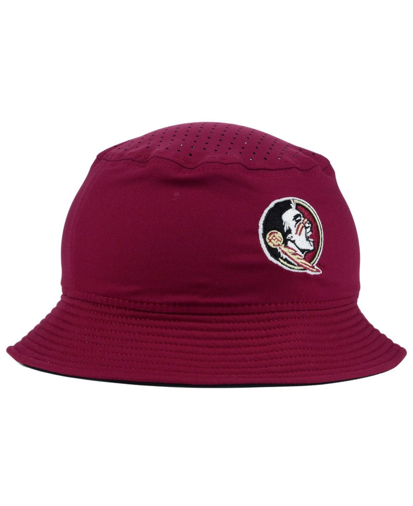 detailing 0f769 deae7 ... discount lyst nike florida state seminoles vapor bucket hat in red for  men 293d0 6b955