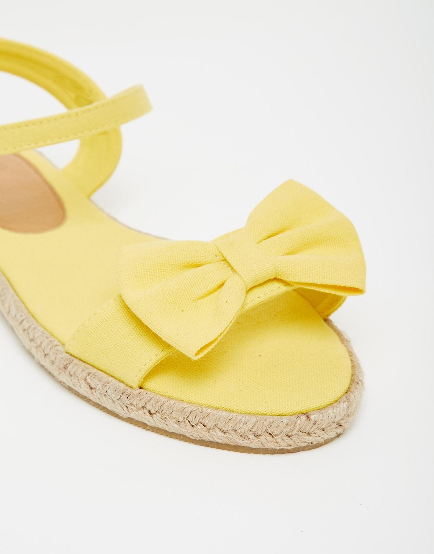 6838ce43d Lyst - ASOS Juno Espadrille Bow Sandals in Yellow