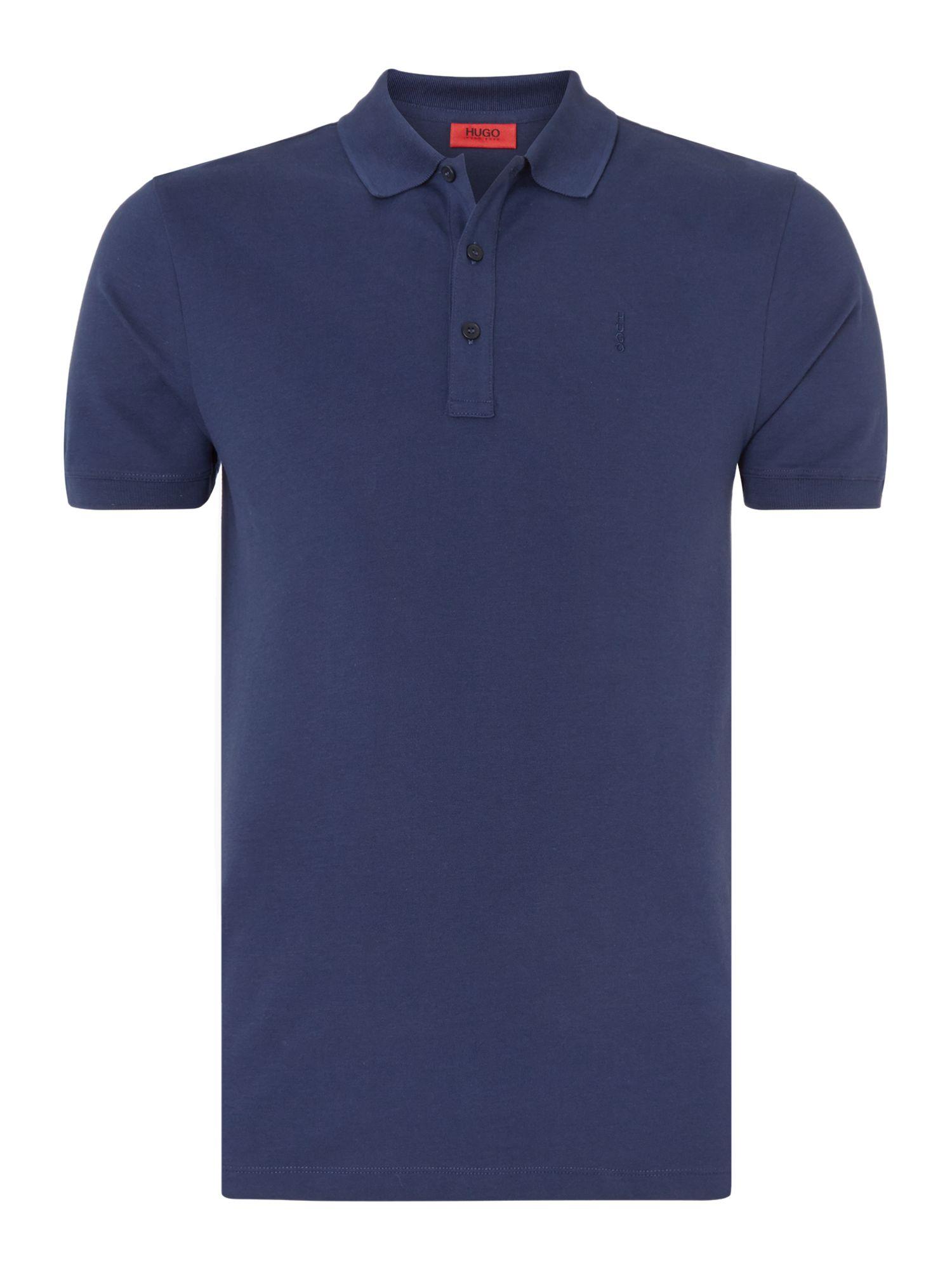 Hugo Nono Logo Slim Fit Polo Shirt In Blue For Men Navy