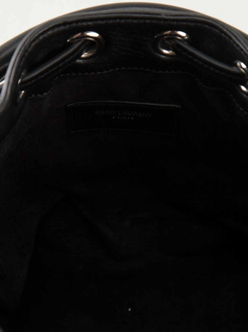 Lyst Saint Laurent Emmanuelle Bucket Bag In Black