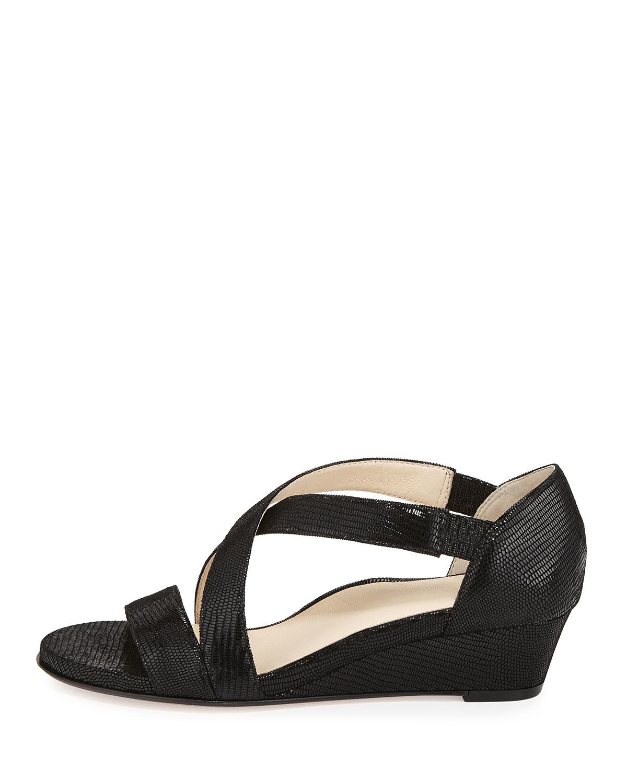 saraia low wedge sandals in black lyst