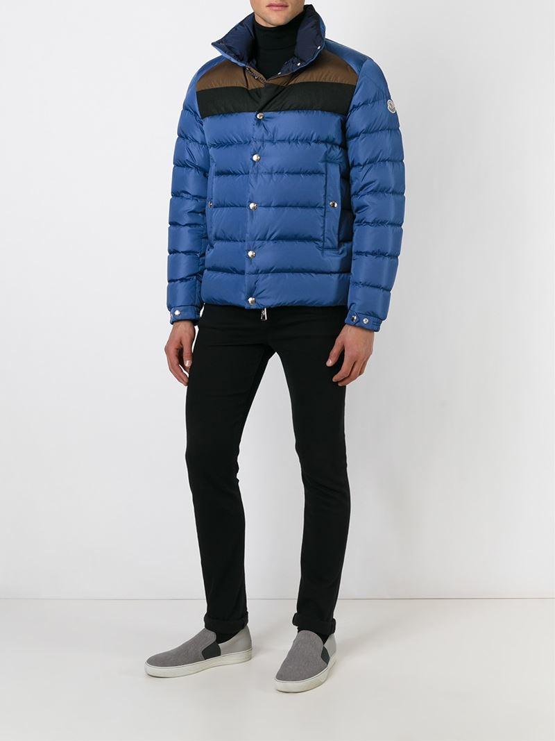 Moncler 'breval' Padded Jacket in Blue for Men