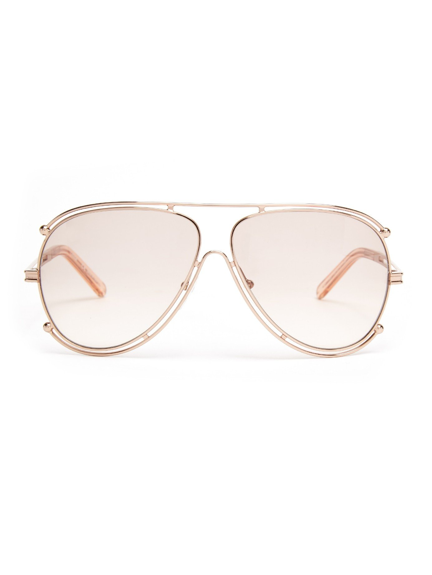 859ab41bf34a Lyst - Chloé Isidora Aviator Sunglasses in Pink