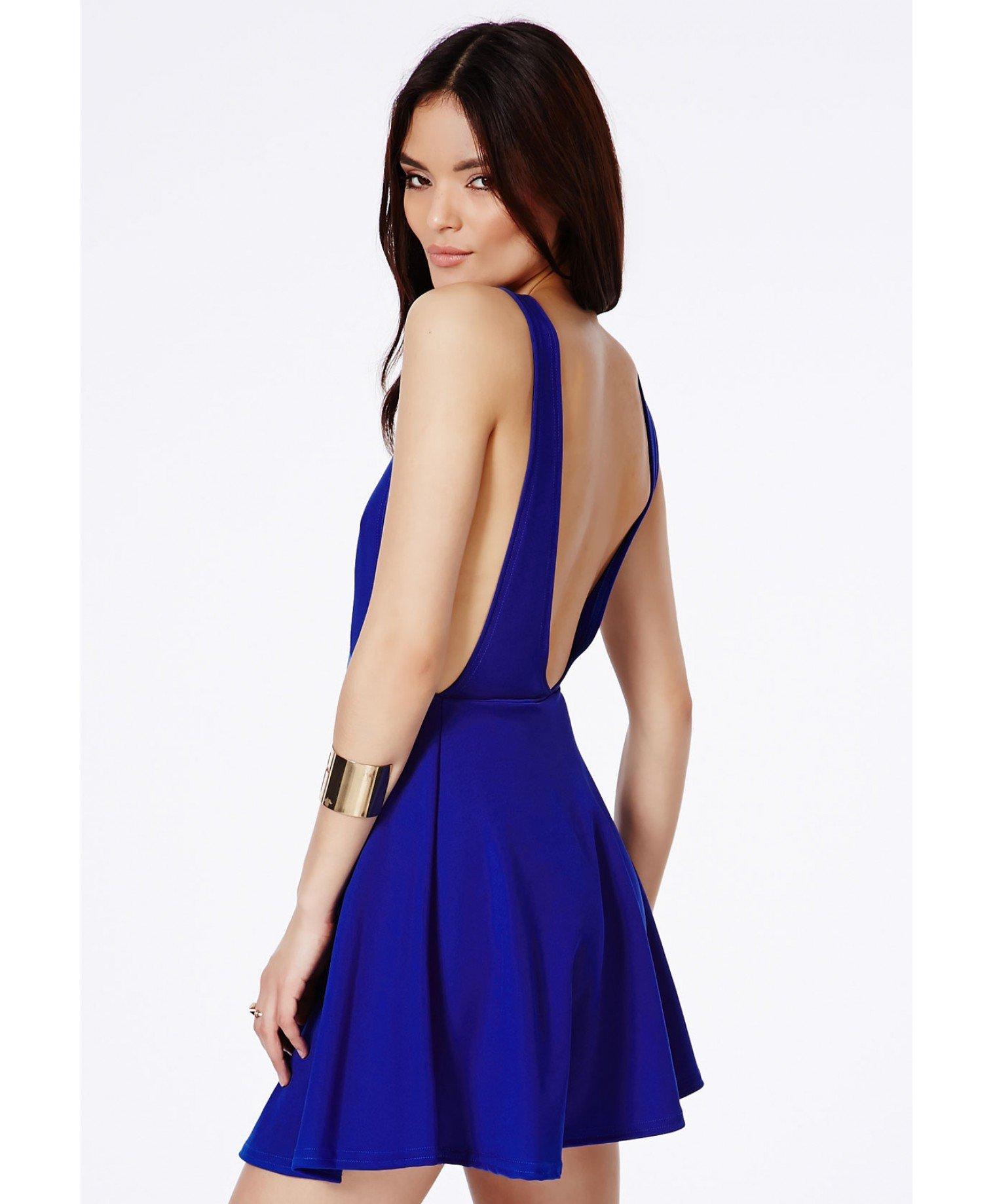 Blue Backless Dress Photo Album - Reikian
