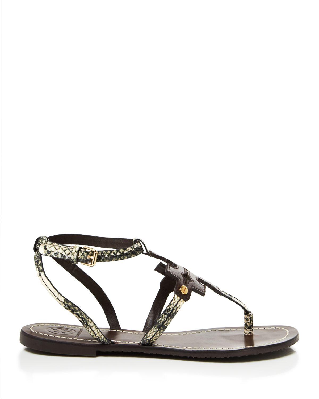 fc54361cebc1 Tory Burch Flat Thong Sandals - Chandler in Black - Lyst