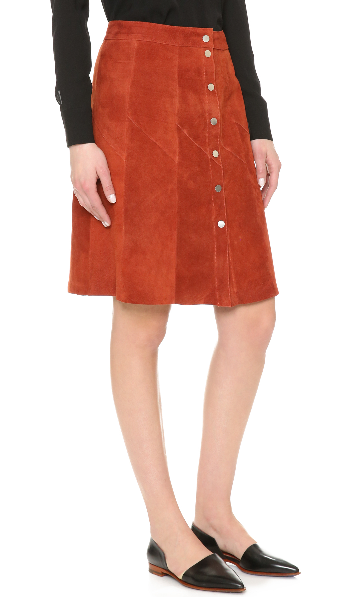 a l c adrienne suede skirt in lyst