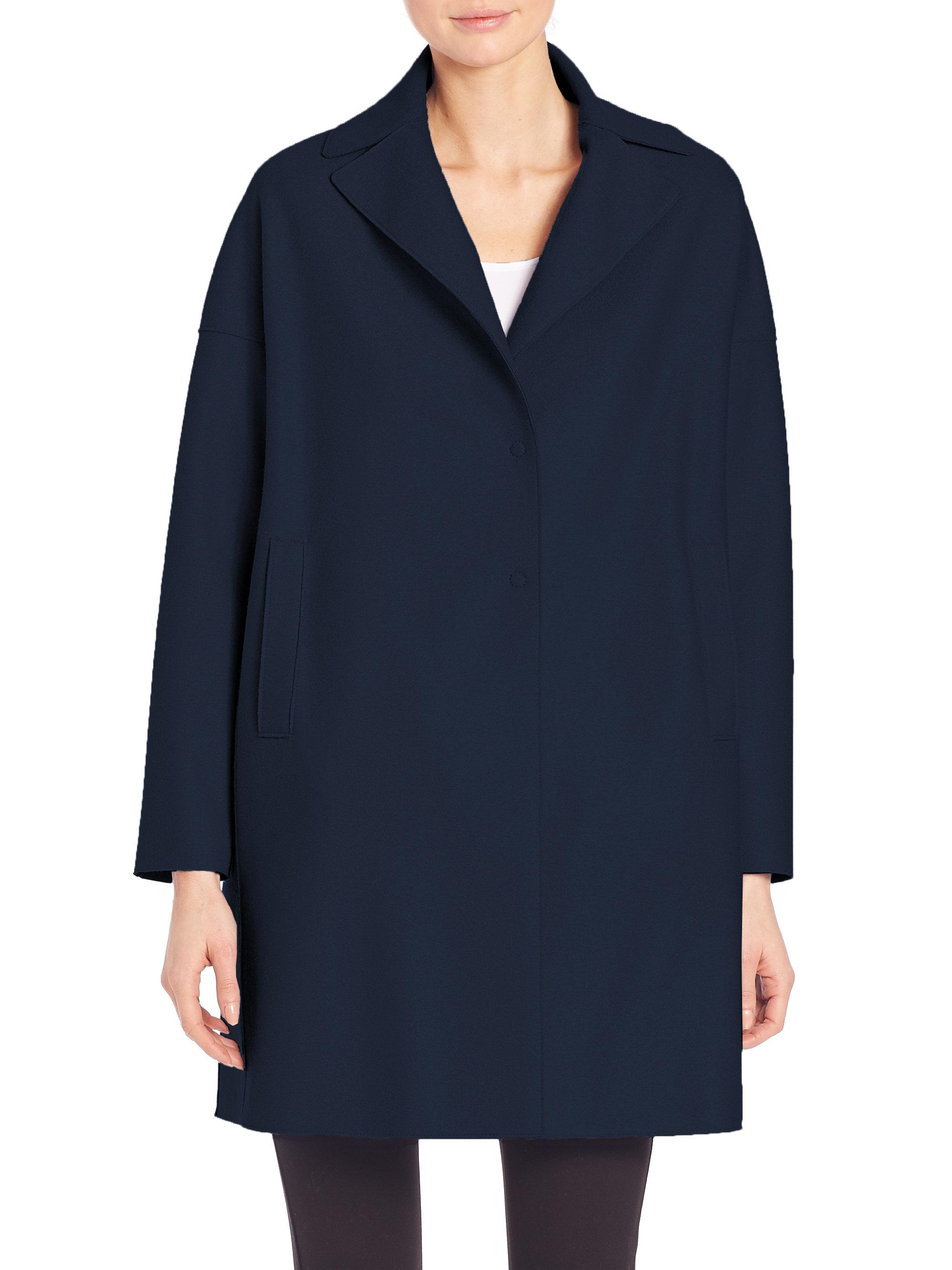 Lyst - Harris Wharf London Wool Oversized Coat in Blue 5f13e6c13871f