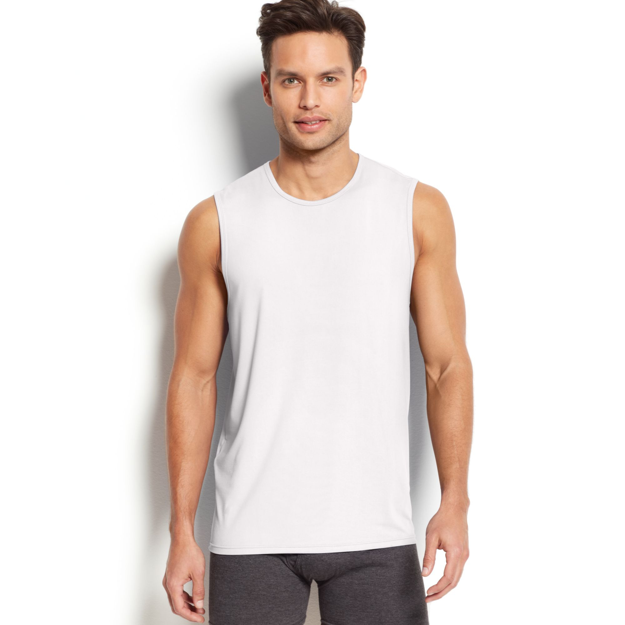 6833ca5a62f018 Lyst - Weatherproof Mens Cool Performance Muscle Tank in White for Men