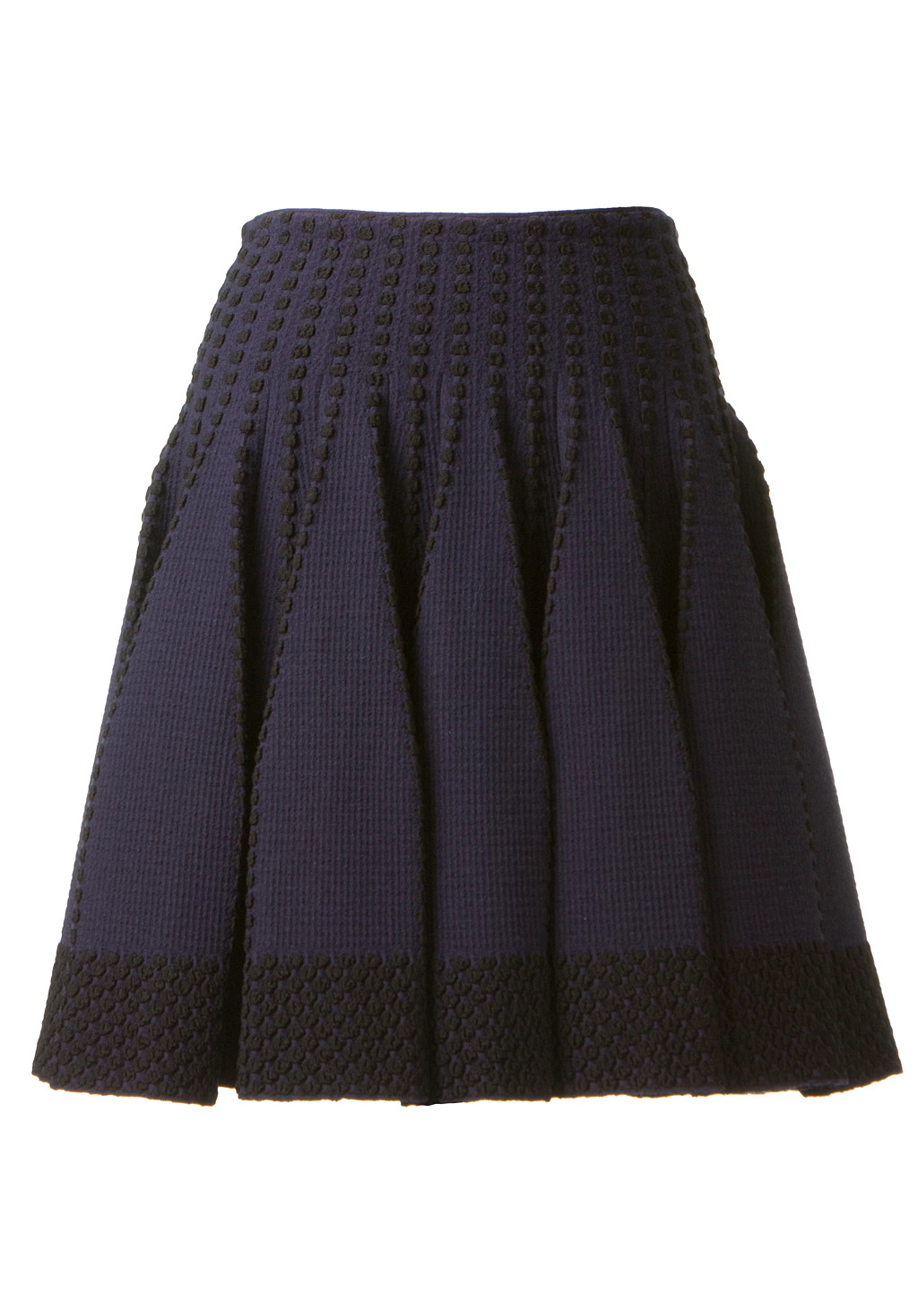 ala 239 a blue and black stretch pleated skirt in blue lyst