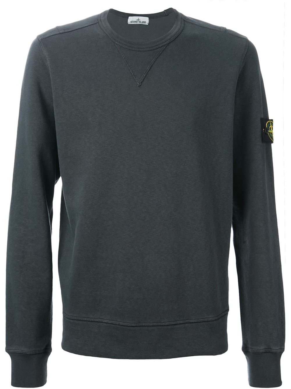 stone island crew neck sweatshirt in gray for men lyst. Black Bedroom Furniture Sets. Home Design Ideas