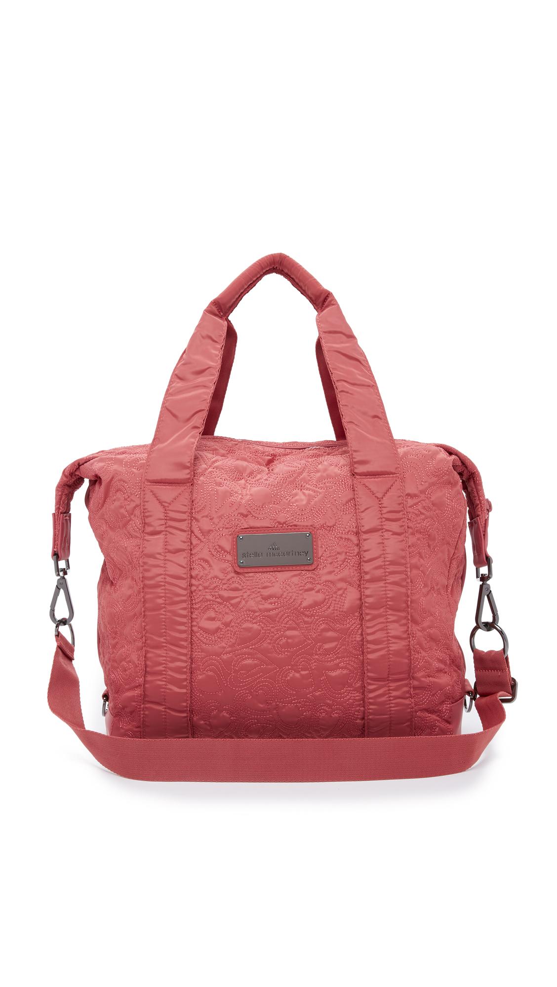 bdbb4a4e78 Lyst - adidas By Stella McCartney Small Gym Bag in Red