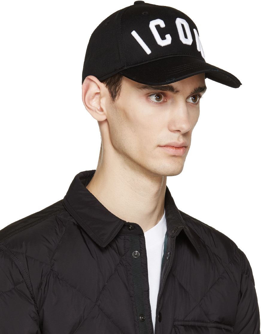 1849d8d6 ... cheap lyst dsquared black icon cap in black for men 69f60 f8f57