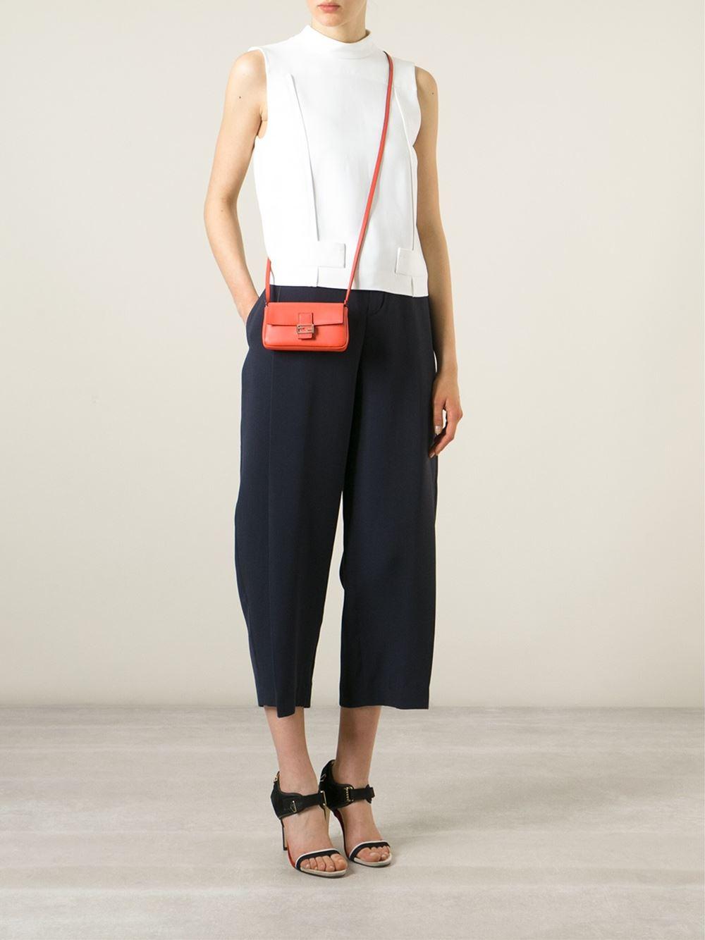 6c798d0d3d Lyst - Fendi Micro  Baguette  Crossbody Bag in Orange
