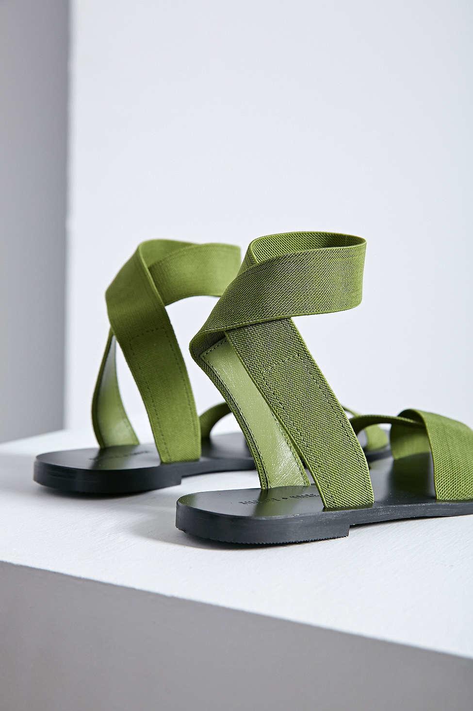 c90de0eee4c Lyst - Silence + Noise Alexa Elastic Sandal in Green