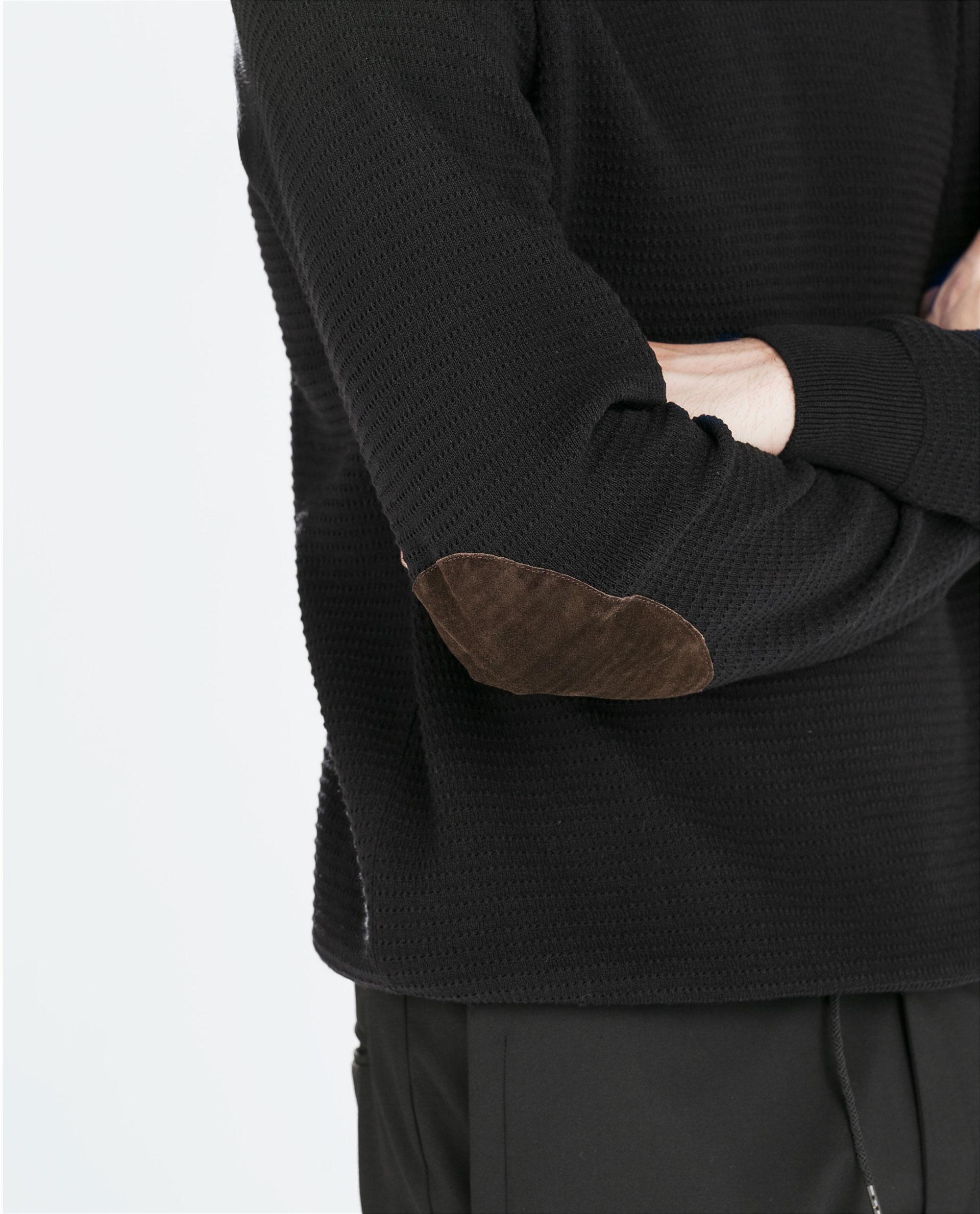 Zara Cardigan Elbow Patches 70