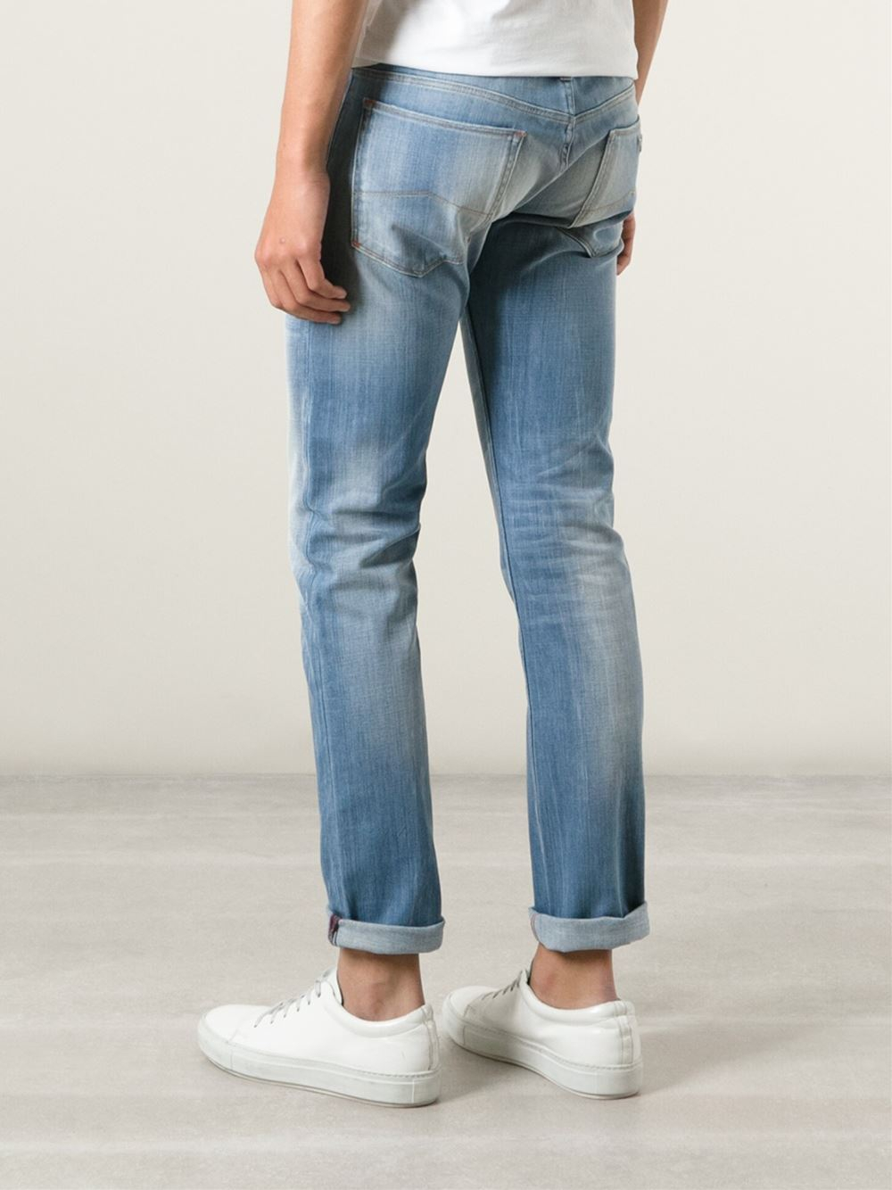 Men Skinny Jeans With Boots